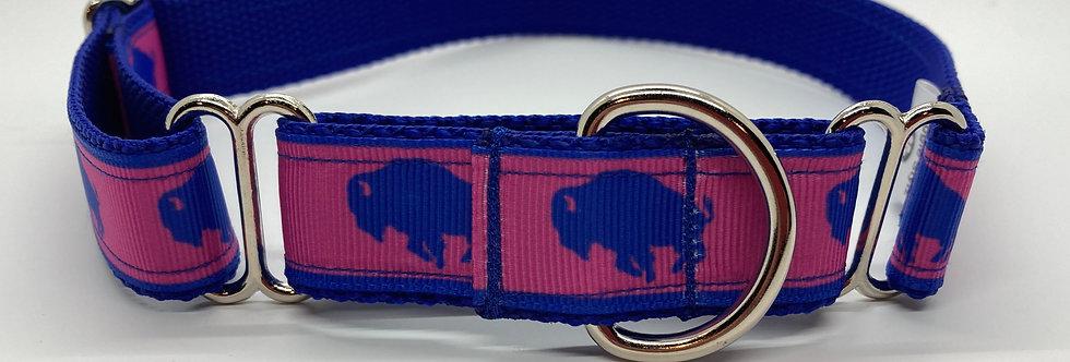 Exclusive Original Doggie Stylz Buffaloes (Pink) Martingale Dog Collar