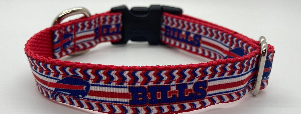 Small Chevron Bills Inspired Dog Collar