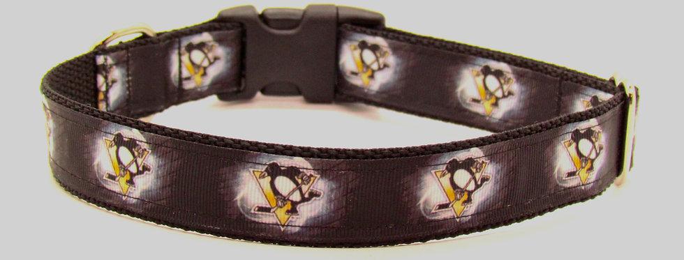 Pittsburg Penguins Logo Inspired Dog Collar