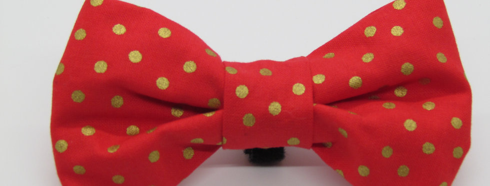 Polka Dot Dog Bow Tie (Various Colors)