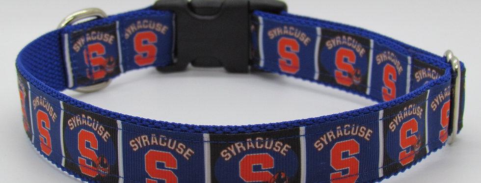Syracuse University (Blue) Inspired Dog Collar