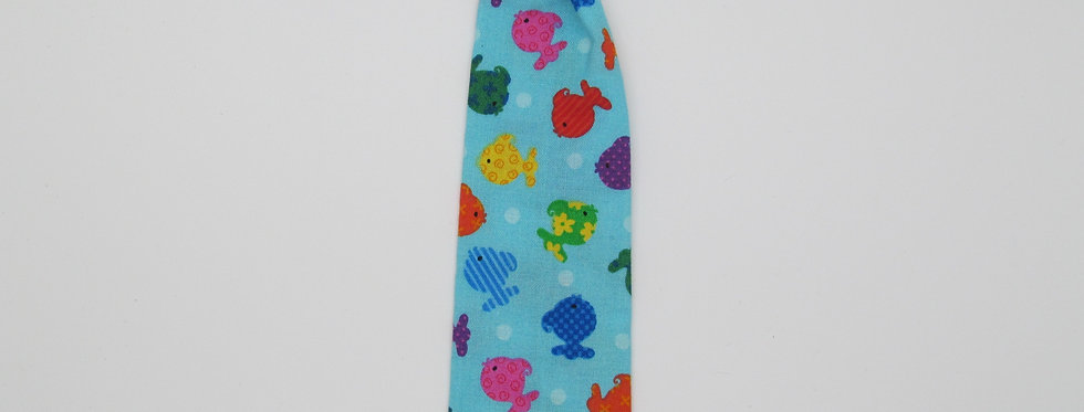 Colorful Fishies Dog Neck Tie