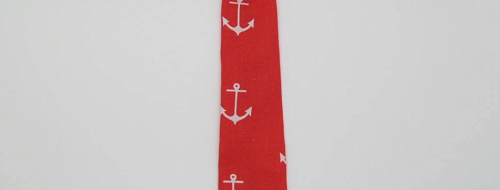 Red Anchors Dog Neck Tie