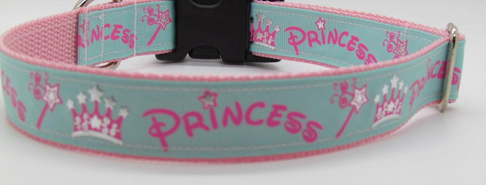 Teal Princess Dog Collar