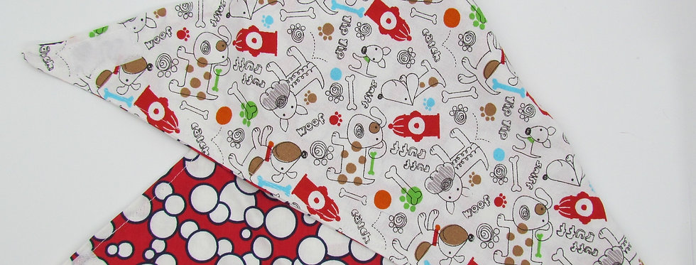 Dogs and Fire Hydrants Reversible Dog Bandana