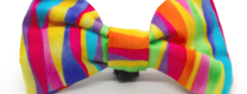 Fruit Stripes Dog Bow Tie