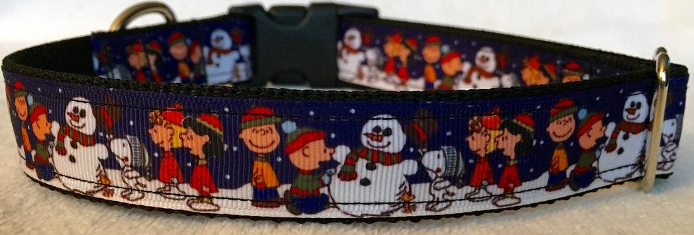 Charlie Brown Holiday Dog Collar