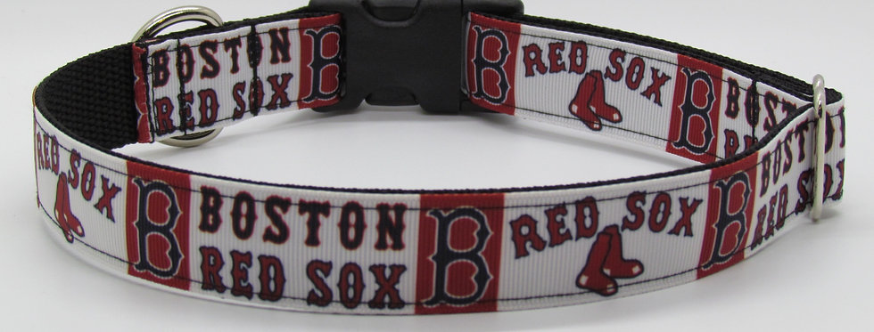 Boston Red Sox Inspired Dog Collar