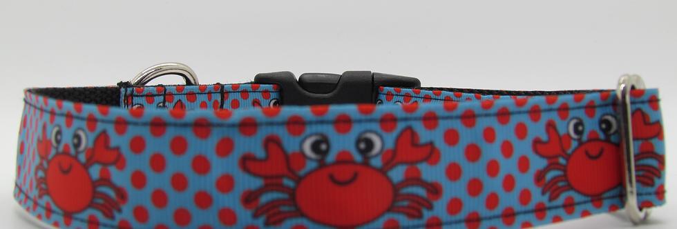 Polka Dot Crabs Dog Collar