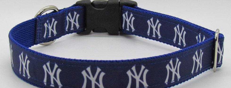 NY Yankees Inspired Dog Collar