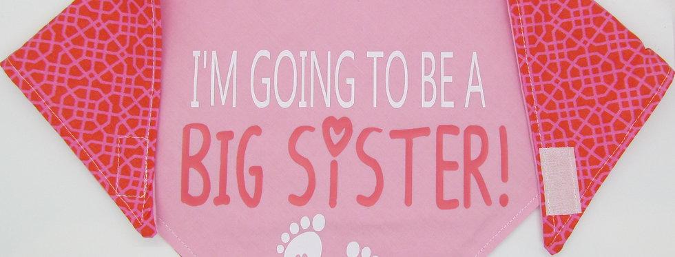 Big Sister (Pink) Reversible Dog Bandana