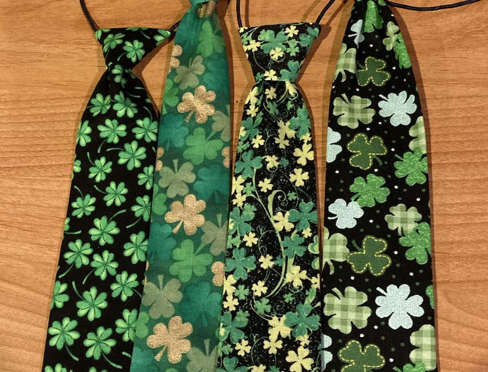 St Patty's Day Dog Neck Tie