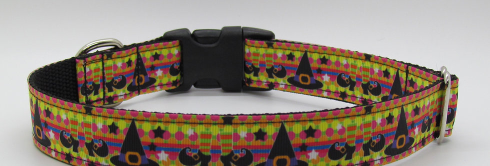 Halloween Witch's Hats Dog Collar