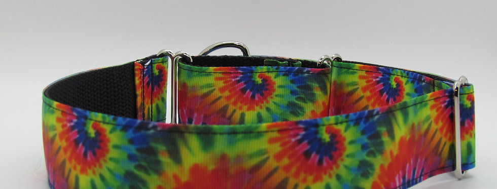 "1 1/2"" Tie Dye Martingale Dog Collar"