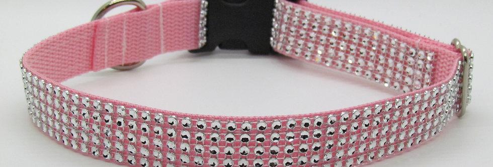 Pink Bling (Rhinestone) Dog Collar