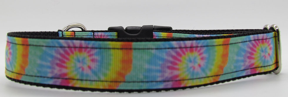 Pastel Tie Dye Print Dog Collar