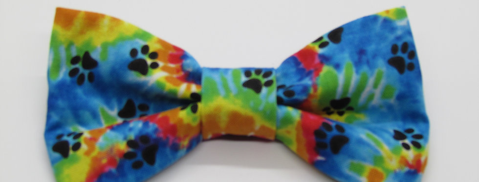 Paw Print Dog Bow Tie (Various Patterns)