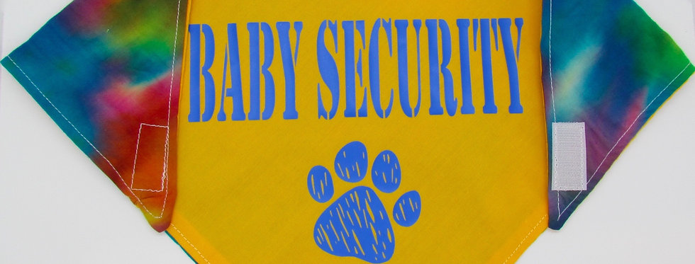 Baby Security (Yellow) Reversible Dog Bandana