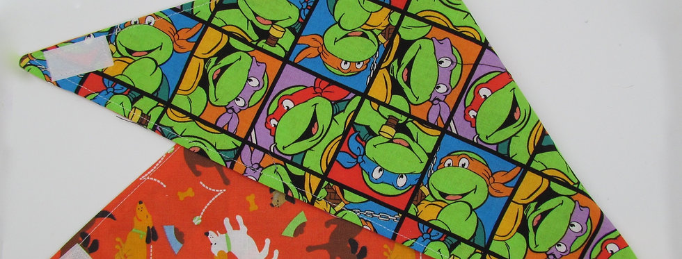 Teenage Mutant Ninja Turtles Inspired Reversible Dog Bandana