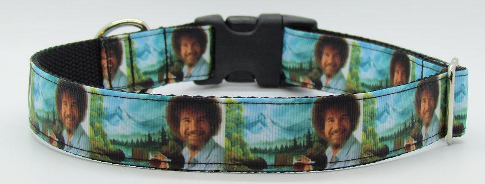 Bob Ross Dog Collar