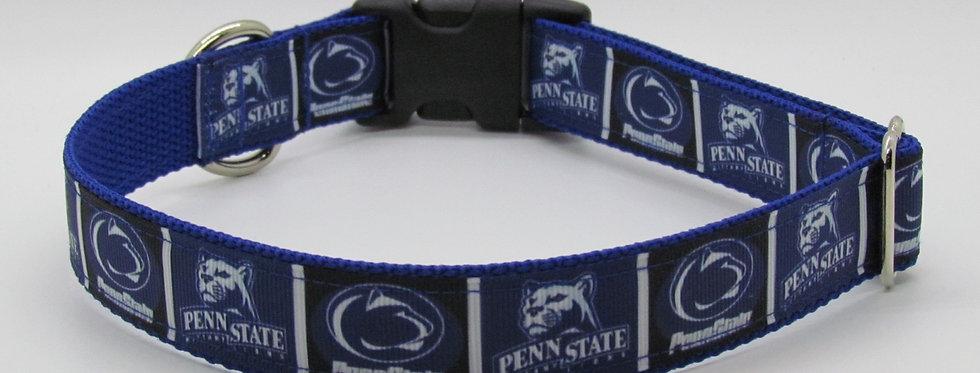 Penn State (Blue) Inspired Dog Collar