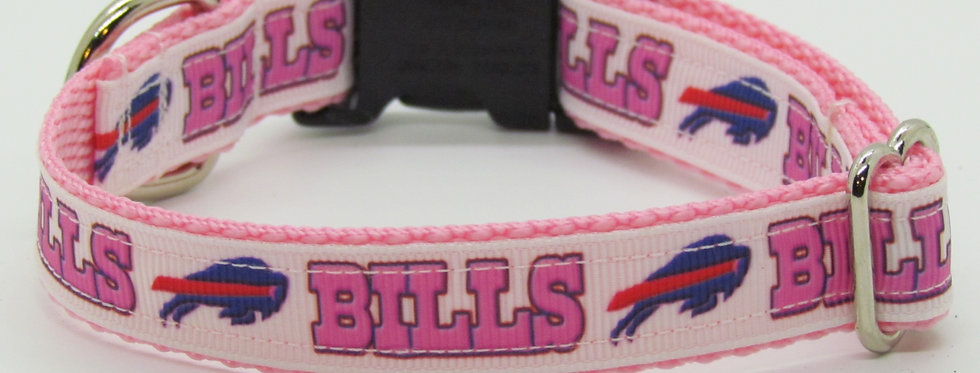 Small Buffalo Bills Inspired (Pink) Dog Collar
