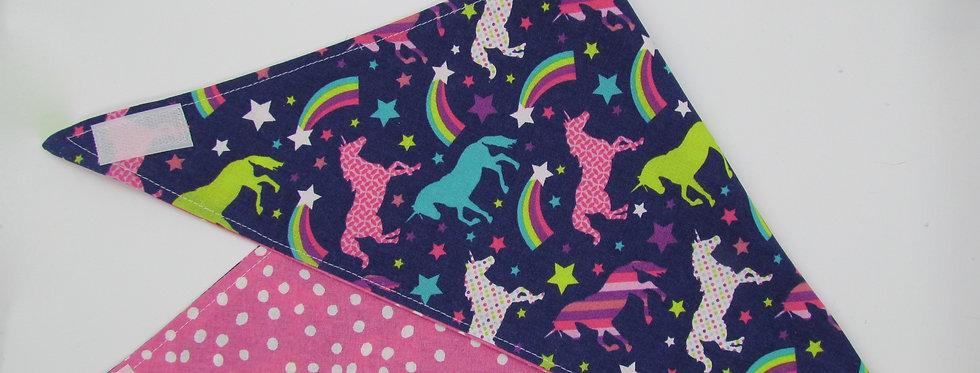 Unicorns Reversible Dog Bandana