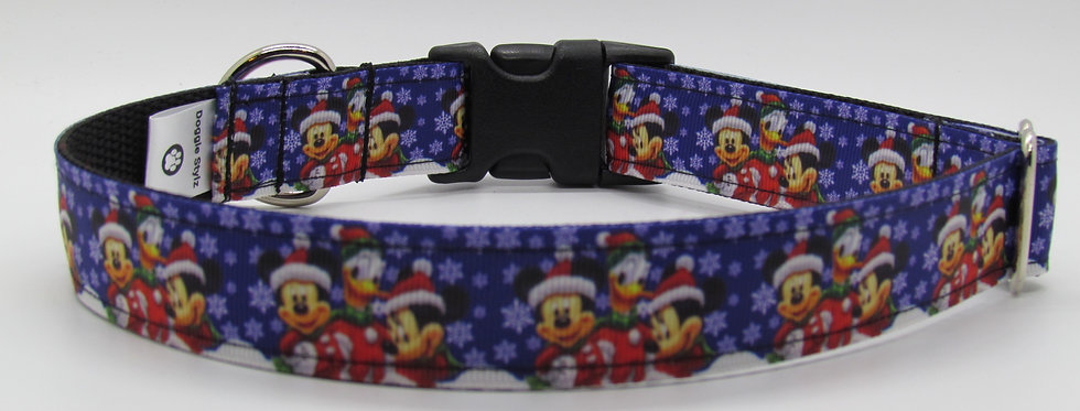Mickey Inspired Christmas Dog Collar