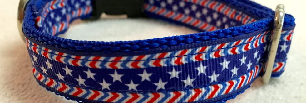 Small Patriotic Dog Collar