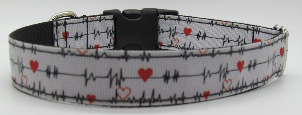 Heartbeats Dog Collar