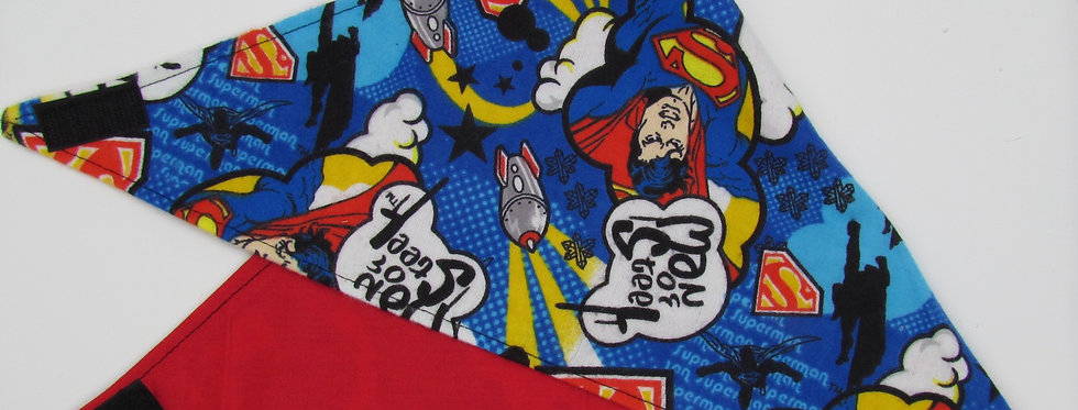 Superman Inspired Reversible Dog Bandana