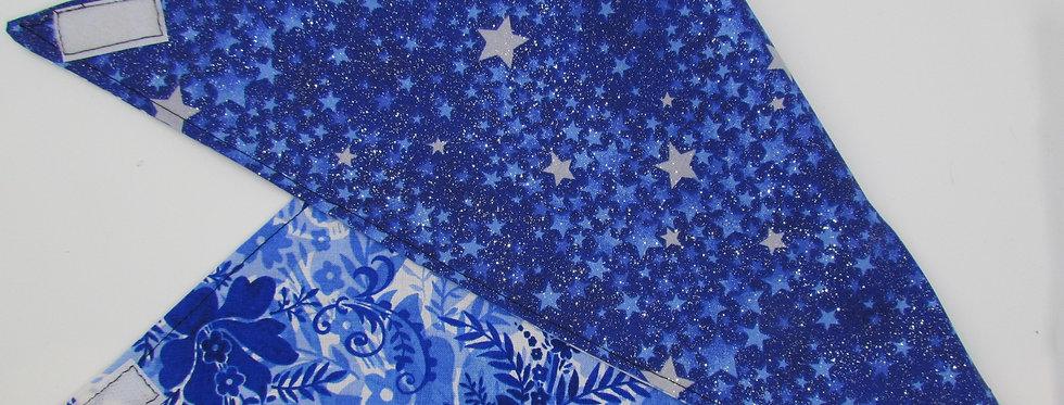 Stars (Sparkly) Reversible Dog Bandana