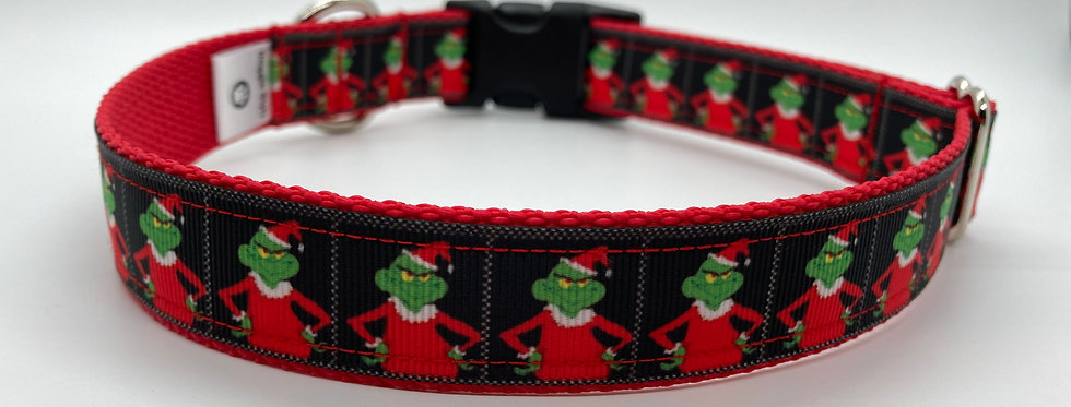 The Grinch Inspired Christmas Dog Collar