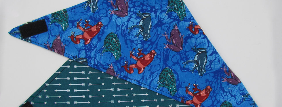Frogs and Toads Reversible Dog Bandana