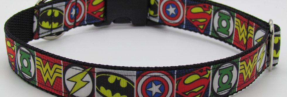 Multiple Super Heroes Inspired Dog Collar
