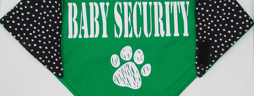 Baby Security (Green) Reversible Dog Bandana