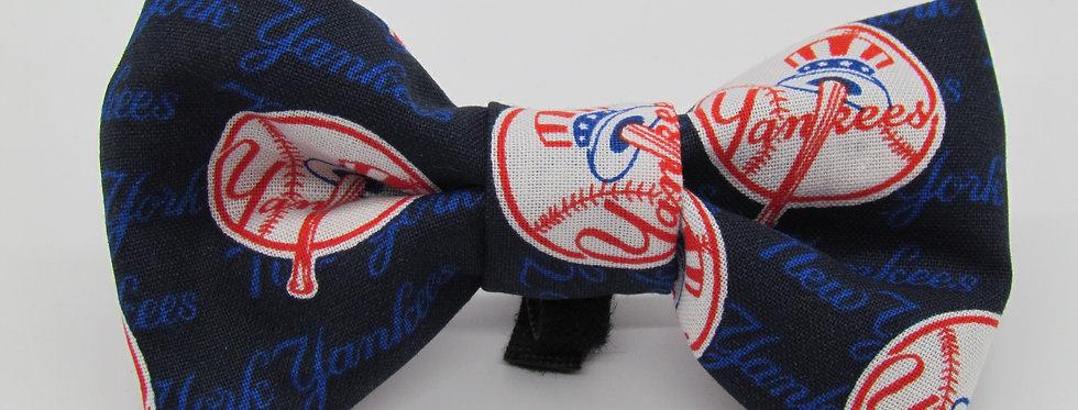 NY Yankees Inspired Dog Bow Tie