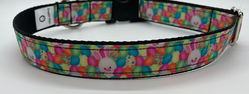 Easter Bunny Patch Dog Collar