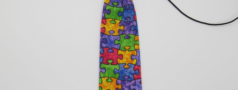 Autism Puzzle Pieces Dog Neck Tie