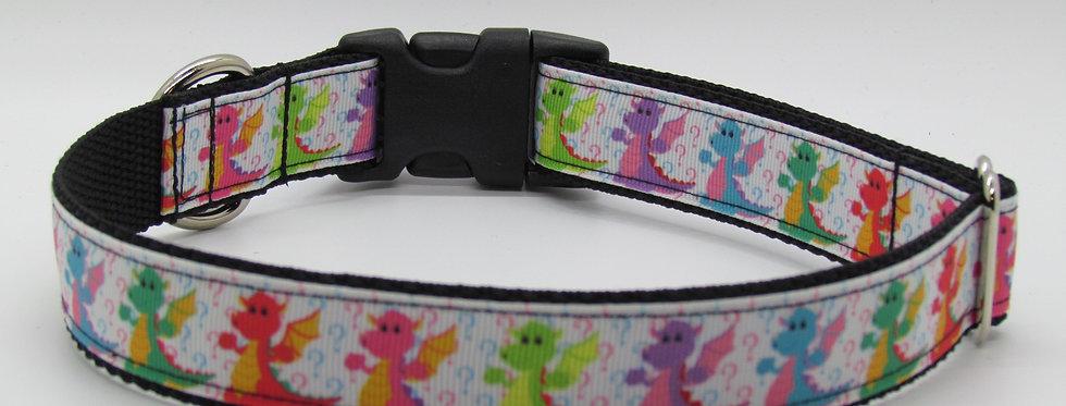 Rainbow Dragons Dog Collar