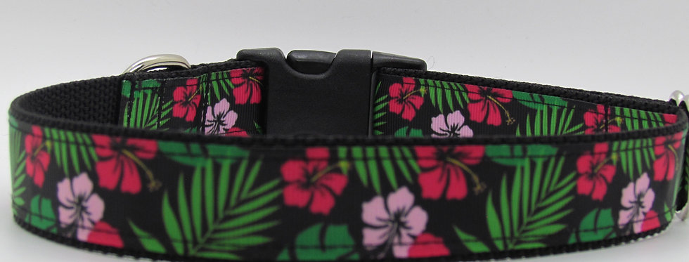 Hawaiian Flowers Dog Collar