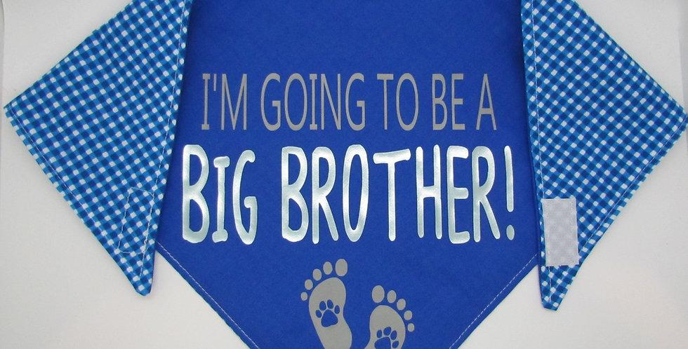 Big Brother (Royal Blue Checks) Reversible Dog Bandana