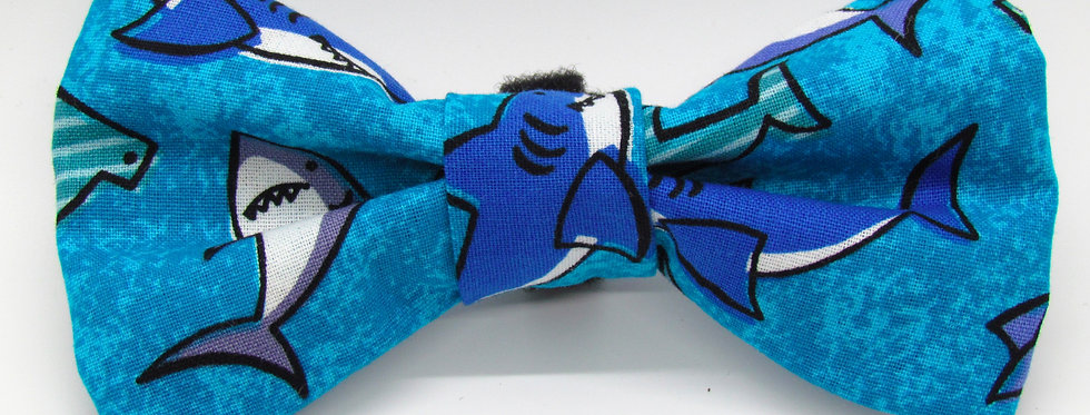 Sharks Dog Bow Tie