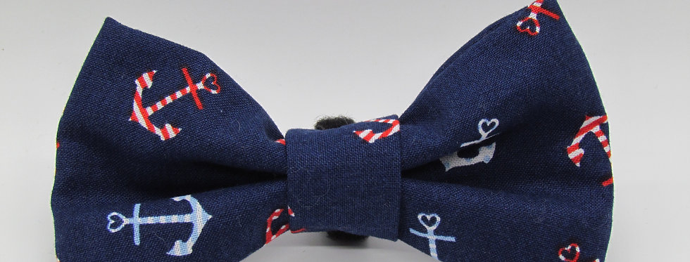 Anchors Dog Bow Tie (Various Patterns)