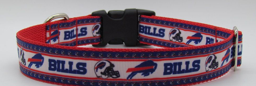 Small Buffalo Bills (White) Inspired Dog Collar