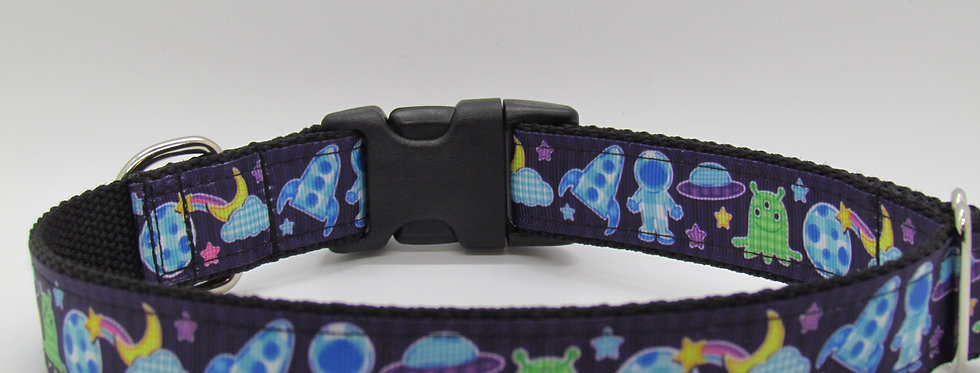 Space and Aliens Dog Collar