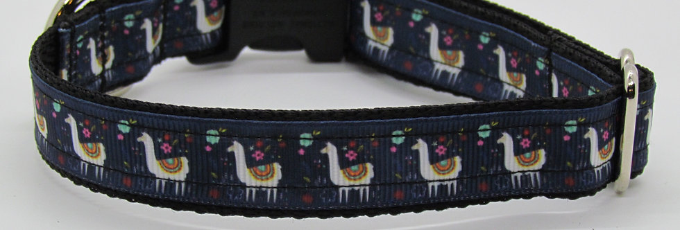 Small Llamas Dog Collar