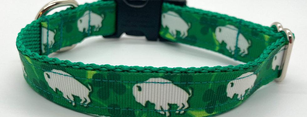 Exclusive Original Doggie Stylz Shamrock Buffaloes Small Dog Collar