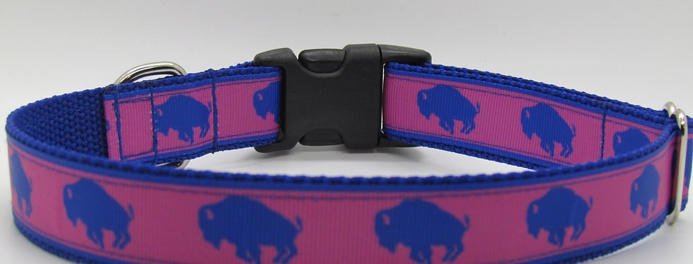 Exclusive Pink Buffaloes Dog Collar