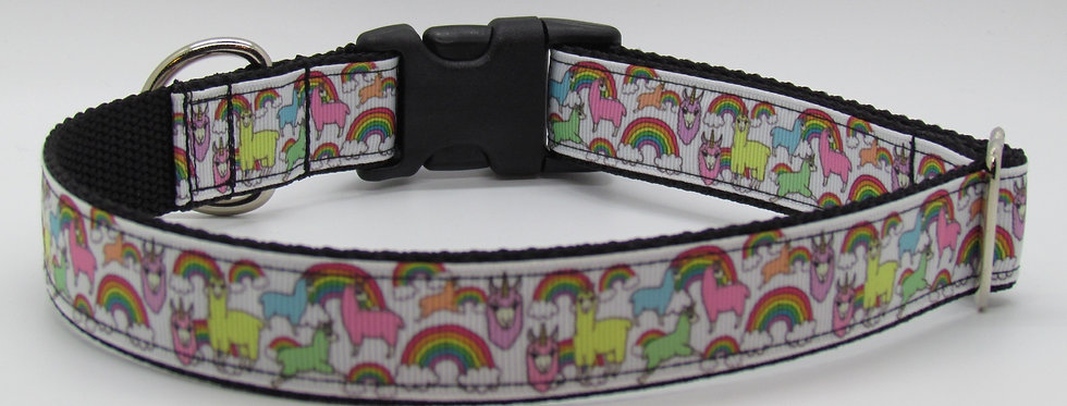 Rainbow Llamas (Llamacorn) Dog Collar